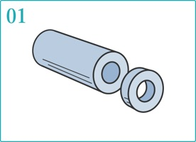 ロウを指輪を作るサイズにカット。