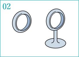 ロウで指輪などの原型を作る。